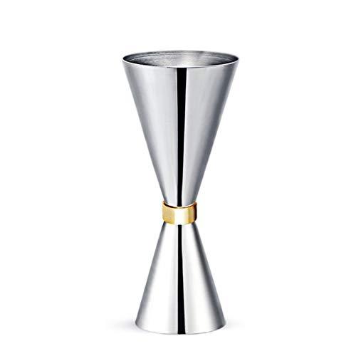 Dubbelzijdig Jigger Shot Glass - met gouden ring - perfect voor Cocktails, Whiskey, Gin, Rum, Wodka en Tequila Shots, Big