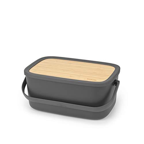 Brabantia - 128264 - Boîte à pain Nic, Gris foncé