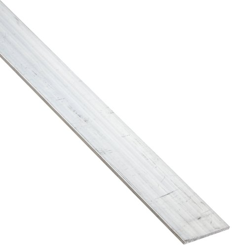 6061 Aluminum Rectangular Bar, Unpolished (Mill) Finish, Extruded, T6511 Temper, ASTM B221, 1/4' Thickness, 3/4' Width, 72' Length