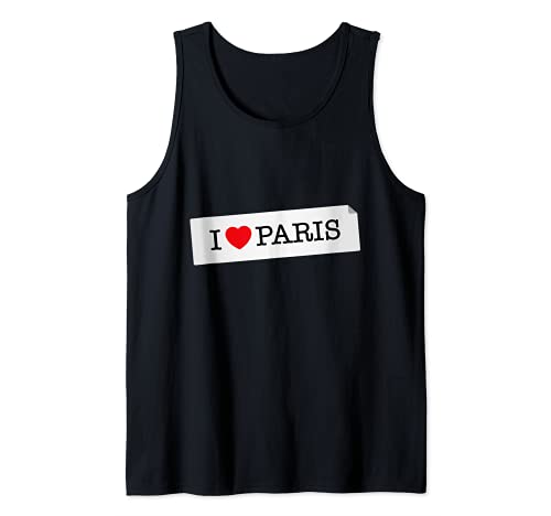 I Love Paris Graphic Tees - Novelty T-Shirts & Cool Designs Camiseta sin Mangas