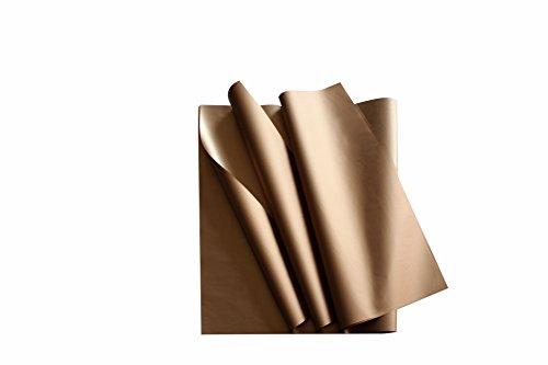 Carte Dozio - Carta Velina Bronzo Metallizzato - 24 Fogli a Conf. - F.to cm 50x75-24 gr/mq