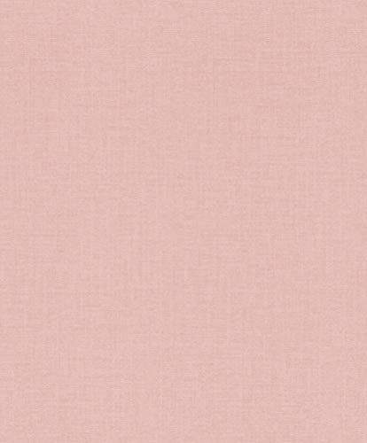 rasch Tapete 402476 aus der Kollektion Uptown – Einfarbige Vliestapete in mattem Rosa – 10,05m x 53cm (L x B)