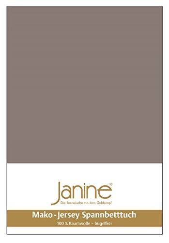 Janine Spannbetttuch 5007 Mako Jersey 90/190 bis 100/200 cm Taupe Fb. 57