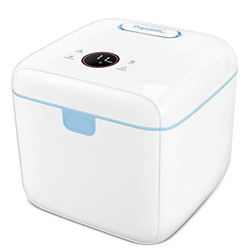Papablic 4-in-1 UV Light Sanitizer | UV Sterilizer and Dryer Pro | UV Sterilizer Box with Dual UV-C Lights | Touch Screen Control