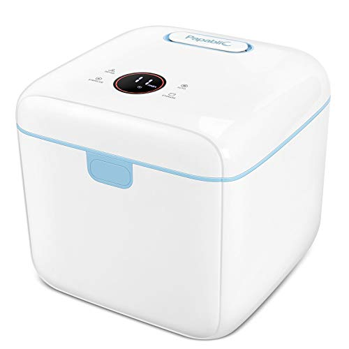 Papablic 4-in-1 UV Light Sanitizer   UV Sterilizer and Dryer Pro   UV Sterilizer Box with Dual UV-C Lights   Touch Screen Control