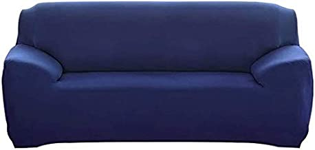 House of Quirk Universal Sofa Cover Big Elasticity Cover for Couch Flexible Stretch Sofa Slipcover (Dark Blue, Triple Seater)