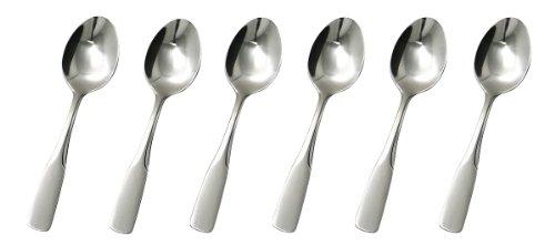 GRÄWE® Espresso- Mokkalöffel 6 Stück, Serie Spaten aus Edelstahl