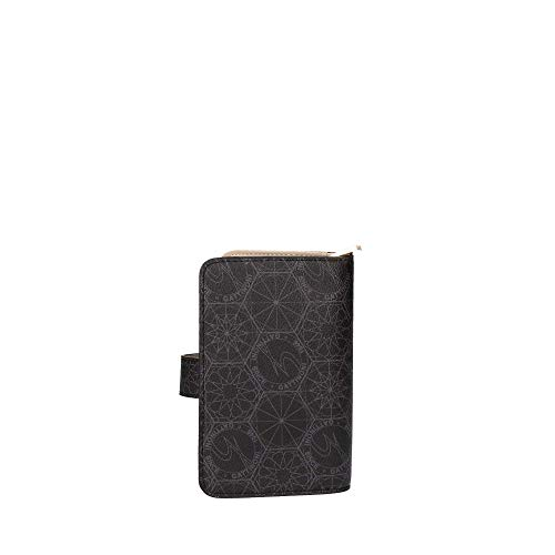 Gattinoni roma - Candy m.zip wallet w/flap m98 blk.off white nero BENCN6440WPW