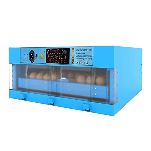 Jlxl Incubadora Digital Completamente Automática con 64 Huevos Temperatura De Control Y Centrifugado Vela LED para Gallinas Patos Gansos Codornices Uso Doméstico