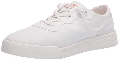 Roxy Zapatillas Cannon sin cordones para mujer, blanco (Blanco brillante), 36.5 EU
