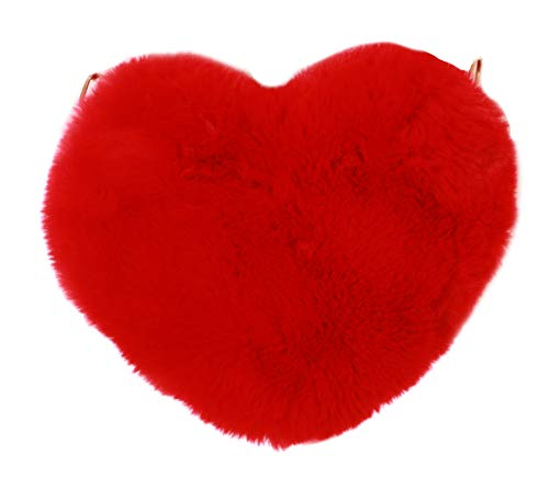 Kawaii-Story LB-222-1 Rot Herz flauschiges Plüsch Party Tasche Lolita Pastel Goth Harajuku