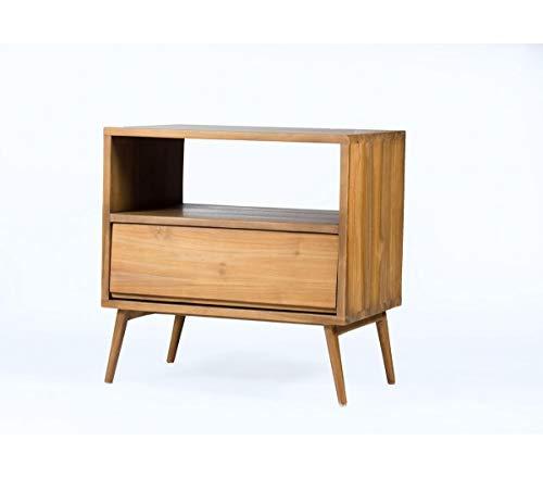 Bout de canapé/Table de Chevet en Teck Massif 60 cm