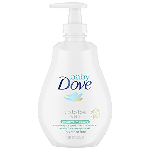 Baby Dove Tip to Toe Wash and Shampoo Sensitive Moisture 13 oz Washes Away Bacteria