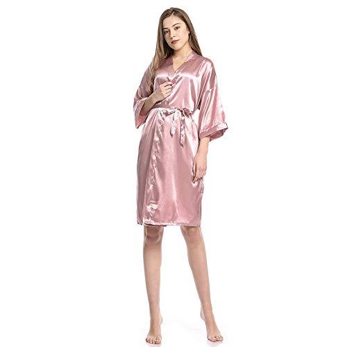 CamisóN De Novia De Estilo De Longitud Media Pijamas Camisones Y Camisetas De Dormir Mujer Sexy Bata De BañO CamisóN Suave CamisóN De Hotel,H-M:Bust:126CM