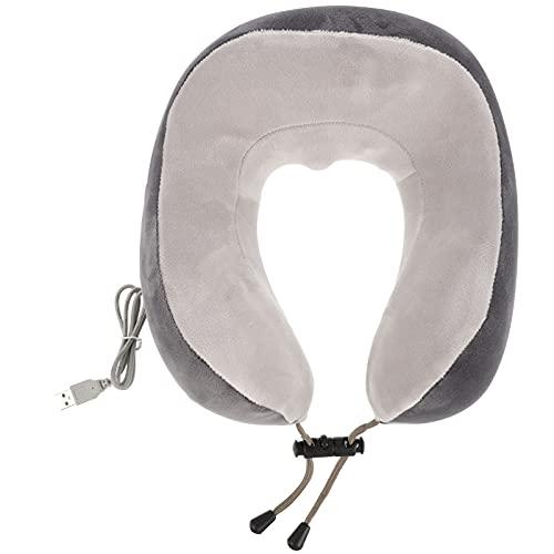 HEALLILY Masajeador de Cuello Inteligente en Forma de U Almohada de Espuma de Memoria para Cuello Eléctrico Masajeador de Cuello Inalámbrico Portátil para Viajes de Oficina en Casa