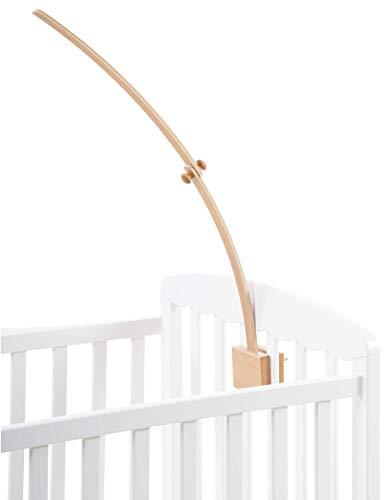Livonir - Mobile Halterung Holz extra hoch [70cm] I Mobile Halterung Wickeltisch, Laufstall oder Babybett I Die Baby Mobile Halterung, Mobile Befestigung aus Holz kann [Ohne Werkzeug] aufgebaut werden