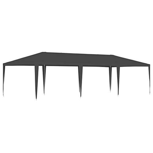 vidaXL Gazebo Professionale 4x9 m Antracite 90 g/m²
