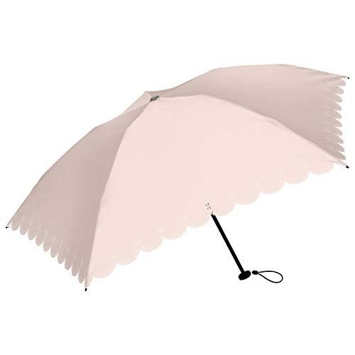 日傘 折りたたみ 軽量 おしゃれ レディース 遮光 ブランド フラワー レース スマホより軽い140g(FM290/ピンク)