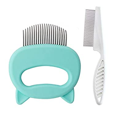 2 Pcs Cat Massage Comb for Short and Long Hair, Pet Shell Comb Gentle Grooming Tool Cats Dogs Cleaning Brush Hair Removal Tool for Shedding Matted Fur, Knots and Tangles by JIMEJV