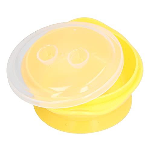 Bols pour bébé, anti-brûlure mignon bol à ventouse pour bébé durable et stable pour l'auto-alimentation pour manger(yellow)