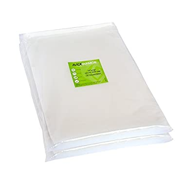 100 Gallon Vacuum Sealer Storage Bags for Food Saver, Seal a Meal Vac Sealers, 11  x 16  Size, BPA Free, Heavy Duty Commercial Grade, Sous Vide Vaccume Safe, Universal Design Pre-Cut Bag Avid Armor