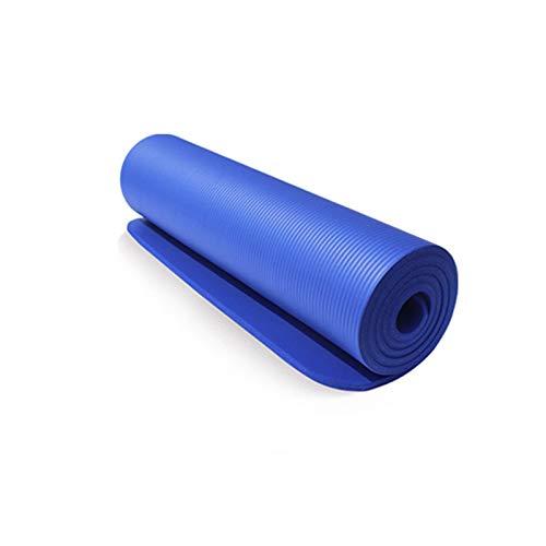 Cómodo de usar Alfombra de yoga, estera de musculación gruesa antideslizante, estera de fitness, sin deslizamiento, impermeable, estera de fitness para gimnasio al aire libre ejercicio, estera de fitn