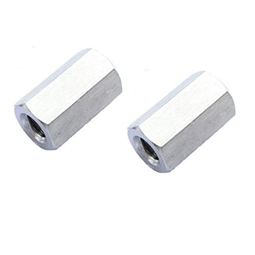 Smartsails 2PCS M8 X 1.25-Pitch 25mm Length 304 Stainless Steel Metric Hex Coupling Nut
