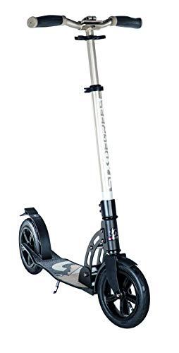 Six Degrees Aluminium Scooter - Tretroller, Luftreifen 205 mm, ABEC 7 Kugellager, gefedert, für Kinder & Erwachsene, GS-geprüft, höhenverstellbar, gold