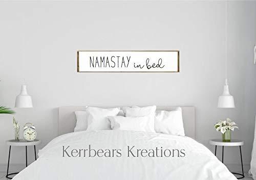 Ced454sy Namastay In Bed Farmhouse Schlafzimmerschild Master Schlafzimmer Decor Schlafzimmer Wandkunst über Bett Schild Namastay Schild Guest Schlafzimmer Schild