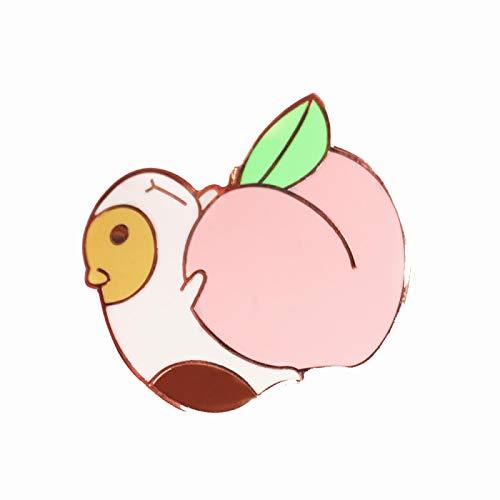 wangk Süße Meerschweinchen Pin lustige Obst Pastell Pfirsich Rose Gold Brosche Meerschweinchen Schweine tragen Pfirsiche Pins Dekor Mode Schmuck