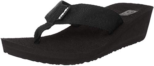 Teva Women's Mush Mandalyn Wedge 2-W,Motif Black,7 M US
