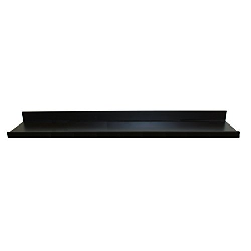 InPlace Shelving 9084682 Floating Shelf with Picture Ledge, 60Wx4.5Dx3.5H, Black