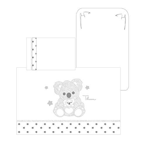 Juego de sábanas bordadas para cuna Thun & OVS de algodón orgánico Koala Baby