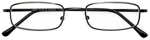 I NEED YOU Lesebrille Club M / +1.25 Dioptrien / Antik Silber