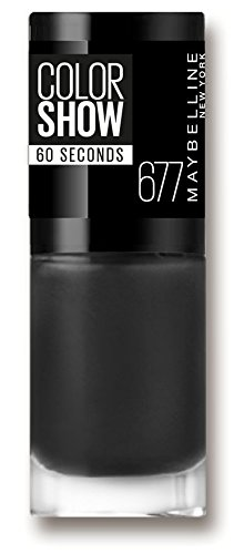 Maybelline New York Colorshow - Vernis à ongles -677 Blackout. - Noir profond
