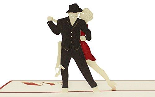 Bon pour cours de dance ou danser, bon d'achat Carte, carte de voeux, carte cadeau pour danseur, cartes de bon d'achat, Pop Up de qualité, cadeau, Invitation à Danse Party, H07