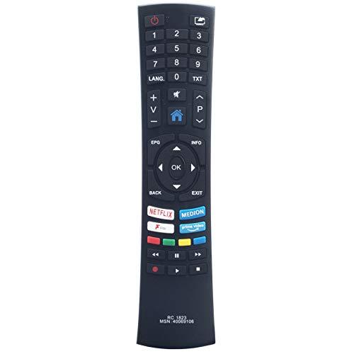 RC1823 Ersatzfernbedienung für Medion Smart Full HD-Fernseher Life P13901 (MD 31373)
