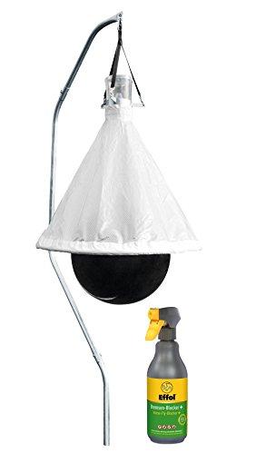 Kerbl Bremsenfalle TaonX + 1x Effol® Bremsen-Blocker 500ml, Fliegen- und Bremsenschutz für Pferde