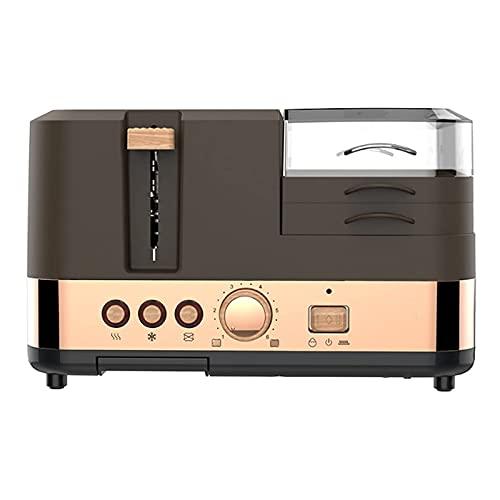 Máquina De Desayuno Multifuncional Mini Horno Eléctrico, Horno Tostador, Máquina Para Hornear Pan De Desayuno, 2 Rebanadas, Horno...