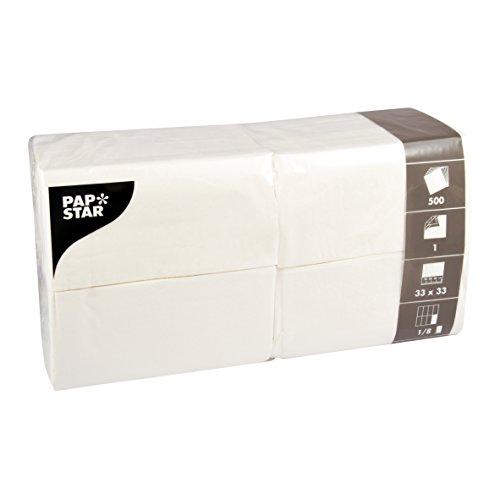 PAPSTAR Servietten, Tissue, weiss, 33 x 33 cm