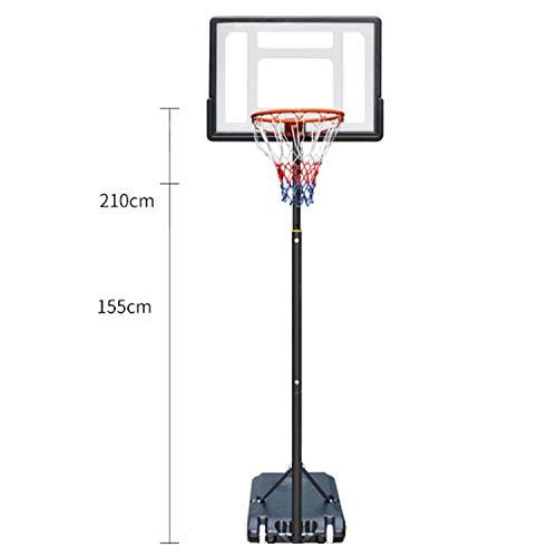 WeeLion Kinder Outdoor Basketballkorb, Aktivität Rad/PVC Rebound Board kann Basketball Training Basketball Spielzeug (155-210 cm) Heben