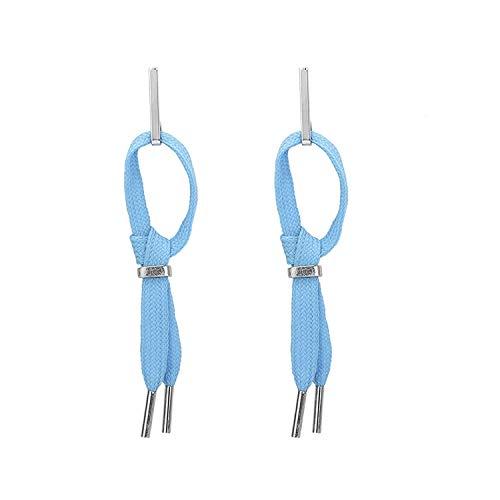 JY Novedad Jewelrygold Plateado Mujeres Stud Pendientes Fag End Azul 110Mm