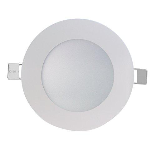 SevenOn LED 64534 Pack de 3 downlight LED SMD extraplano redondo, blanco mate, 8W, 120º, 600 lúmenes, 4000K, blanco neutro, IP20. No regulable.B07BBJHYD9