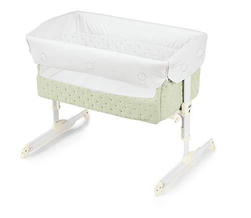 Brevi Nanna Oh Culla fianco letto con Funzione Dondolo, Neonati 0m+, Verde Salvia