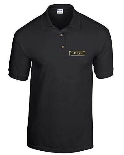 FatCuckoo Sigil of The Gateway - Polo para hombre con logo de Cthulhu Mythos DryBlend de doble piqué Negro Negro ( S