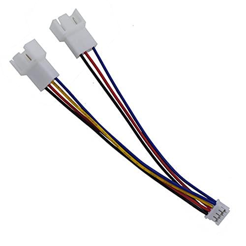 OverTop 12cm PH2.0 pequeño 4Pin a doble tarjeta gráfica de 3Pin/4Pin a ventilador cable adaptador de corriente Cable cable cable