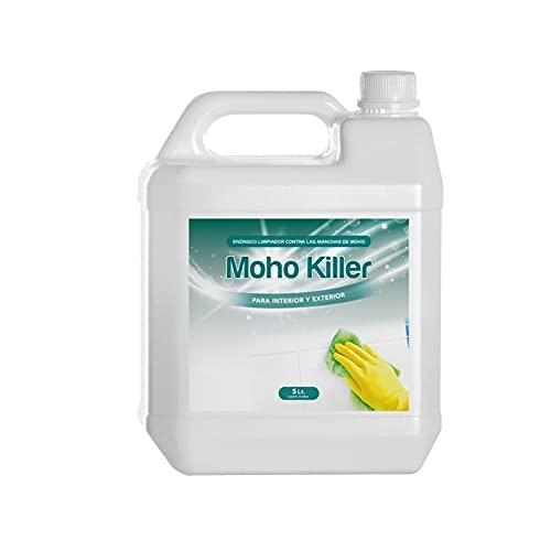 Spray Limpia Moho 1 Litro para paredes, juntas, azulejos, baldosas, baño, suelo, ducha y resto de superficies con humedad / fórmula anti moho quita mancha de humedades limpiador de juntas (5Litros)