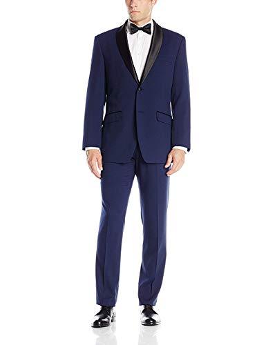 Perry Ellis Blue Stretch Slim Fit Tuxedo