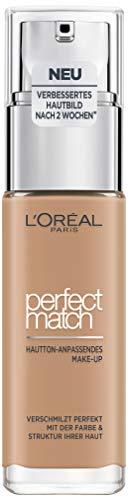 L'Oréal Paris Perfect Match Foundation, flüssiges Make-Up, deckend und feuchtigkeitsspendend für einen natürlichen Teint - 4.5N true beige (30 ml)