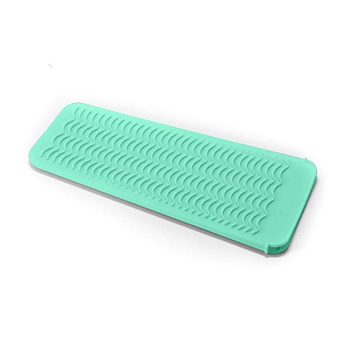 Sale!! ZAXOP Resistant Silicone Mat Pouch for Flat Iron, Curling Iron,Hot Hair Tools (Mint Green)